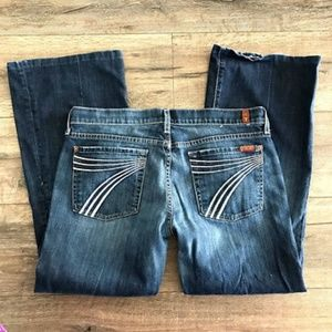 7 For All Mankind DOJO Jean 31 Distressed Bootcut